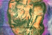 My Watercolor Paintings on Lokta Paper / My watercolor paintings done on Lokta paper