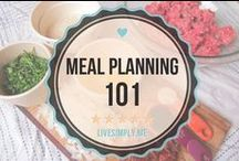Meal Planning / Inspired Housewife - Meal prep for clean eating, recipes, ways to organize, save money, and create meal plans to feed your family. / by Inspired Housewife