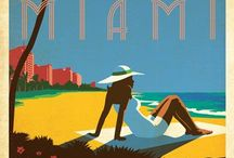 City Love: Miami / Miami City, Miami Beach, Lincoln Road, Clay Hotel, Espanola Way, a small, laid back pedestrian street lined with restaurants and shops, South Beach, Miami, Florida.