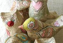 PAPEL MACHE-papel / papel mache,decoracion con papel