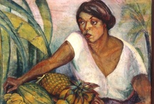 Anita  Catarina Malfatti / (Dec 2, 1889 – Nov 6, 1964) is heralded as the first Brazilian artist to introduce European and American forms of Modernism to Brazil. Her solo exhibition in Sao Paulo fr 1917-1918, was extraordinarily controversial at the time, and her expressionist style and subject were revolutionary for the rather complacently old fashioned art expectations of Brazilians who were searching for a national identity in art, but who were not at all prepared for the influences Malfatti would bring to the country. / by Isaura Beekhuizen