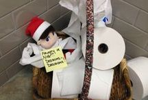 Lindus Construction Office Elf on the Shelf / Meet Walter, our Elf at Lindus Construction, that has shown up for the season to see who has been naughty or nice!!
