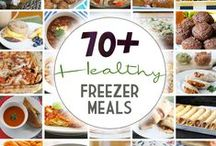 Healthy Freezer Meals / Save time and money with this board full of delicious, healthy freezer meals that can be made ahead and frozen for later. Find more healthy freezer meals at thrivinghomeblog.com. #freezermeal #realfood