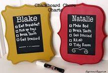 Chalkboard ideas / DYI & creative chalkboard projects & ideas