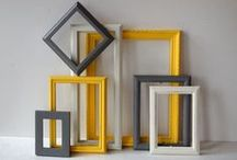 Picture frame ideas / Different & creative ways you can use picture frames. Not just for photos.
