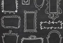 Inspiration | Chalkboard / quadro negro, giz, chalk, blackboard