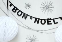 White (and Black) Christmas / Simple Christmas decorations and ideas...minimal...black and white and natural