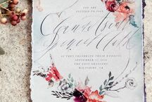 Beautiful Stationary / Wedding invitations & stationary