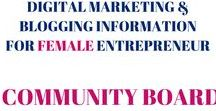 "Digital Marketing & Blogging Information for Female Entrepreneur//Community Board / Board's mission: To help female entrepreneurs build their online business! You'll find social media, blogging and business tips. Feel free to share content you've created + tips and resources you've found online, but only if they're helpful. RULES: Don't spam the board & pin only "" business, digital marketing & blogging for online business"" content. Follow Kerry-Ann Ingram & invite others. If you want to post to this board, send me a message or an email -->kerry@kerryanningram.com -- Thanks!"
