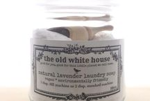 shop The Old White House / natural lavender laundry and cleaning products made my myself and my family, for you and yours... also a peek at my repurposed assemblage art jewelry. t.xoxo