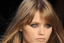 """Bangs / Hair bangs also known as """"fringe"""" is cut to frame the face and vary in style and texture."""