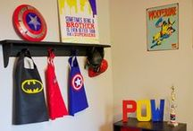 Home Sweet Home - Superhero Room / If my boys share a room, THIS would be their theme. Either way, Luis digs this, so it would definitely be his. :) / by Francelin Lopez