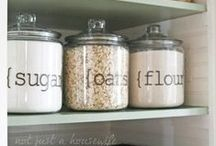 Kitchen / Clever ideas for a beautiful, organized kitchen!