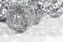 Weihnacht Silber / Mal komplett ohne Gold - klassische Weihnacht mit Silberakzent!
