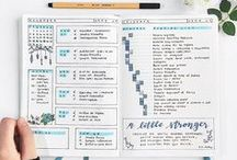 Bullet Journal / Ideas and inspirations for creating my own bullet journal. A cheap creative all in one planner with lots of trackers to do lists and goals.