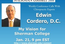 """Sherman Connect Calls / Free Chiropractic Conference Call  The """"Sherman Connect"""" weekly conference call is a new free service provided to everyone who loves Sherman College and the values it stands for.    Each week a member of Sherman's Board of Trustees will host an elite guest speaker who will share some aspect of the philosophy, science and art of chiropractic and its successful application in practice. Archived calls here."""
