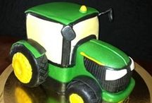 farm, animals and tractor cake/cupecake