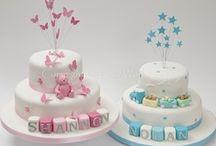 baptism cake, baby shower cakes