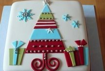 winter, christmas and new years cakes