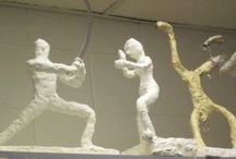 Plaster Bandage sculpture projects