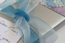 By the gift wrapper / The finishing touches to our gorgeous NZ made gifts