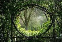 Garden gates, fences, walls, trellises, edgings and paths / by Doug Green