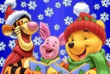 all things Pooh :: holidays / Christmas Thanksgiving Halloween + coloring pages / by Peggy