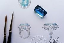 Jewelry sketches / #Jewels come from an idea than a #sketch #luxury #jewelry