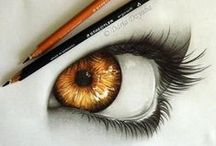 Draw eyes / Real, anime and abstract eyes artworks or tutorials. *None of these pins comes from me.*