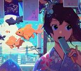 Anime Illustration / Anime characters artworks with background. *None of these pins comes from me.*