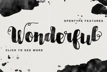 Fonts & Typography / Beautiful fonts and typography designs.