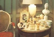 """Tablescapes / My father coined the word """"tablescape"""" to describe precisely arranged objects. I have inherited the disease. / by India Hicks"""