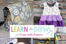 Learn to Sew Lessons / by Amber Price: Crazy Little Projects