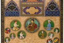 INDE MOGHOLE 1526-1847 / L'empire moghol marque l'apogée de l'expansion musulmane en Inde. Il se développe considérablement sous Akbar, et son essor se poursuit jusqu'à la fin du règne d'Aurangzeb. Après la disparition de ce dernier, en 1707, l'empire entame un lent et continu déclin, tout en conservant un certain pouvoir pendant encore 150 ans.. Après la révolte des Cipayes (1857-1858), les Britanniques exilent le dernier empereur moghol — resté, jusqu'à cette date, le souverain en titre de l'Inde. / by Joelle Lapoujade