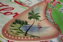 Old Florida Inspiration / Flamingo kitchen, pelican bedroom, dolphin bedroom, gators bedroom, shell bathroom, palm tree bathroom - perfect.