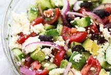 dips, salads