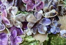 antique fabric flowers