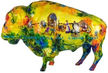 Herd About the Prairie / When people think about North Dakota, chances are they think of prairies...and buffalo. Because we're an artsy community too, we have this herd of painted buffalo (painted by many different artists) scattered throughout the area!