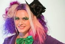 Crayola Coifs / It's mainstream hair now that  was once an edgy look back in the 80's and early 90's putting bold color in your hair these days is like going to get your nails done with Self-Stick nail Polish  / by Hair By Andrea: Mobile