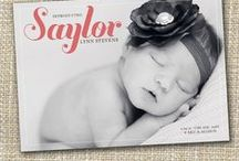 Birth announcements / cards, photo's, baby