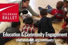 Education and Community Engagement / Colorado Ballet's education and community engagement programs serve in-need students, teachers, families, people with disabilities and lifelong learners in Colorado. Colorado Ballet's outreach programs make more than 50,000 contacts each year in 225 schools/organizations.