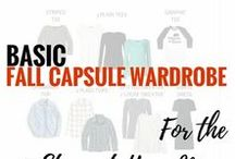 Mom Style: Capsule Wardrobe Plans / Fall capsule wardrobe inspiration for busy moms. Especially designed for stay-at-home moms. All you'll need to stay comfortable, warm, and chic all season long. Easily transitions to winter.