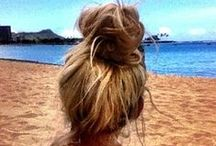 HAIR: Inspiration / Hairstyles, hair-dos, braids, pony tails, buns, etc. / by Brittany Witt