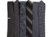 Patterned Black/Gray Ties / ...because every guy needs a sharp neutral necktie (or six). Black and gray ties that are anything but boring.