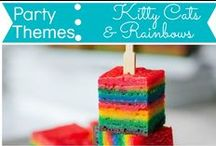 Party Themes: Kitty Cats and Rainbows / by Mouse House Creations: Hayley Crouse