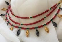 Türkmen / Türkmen Necklaces silver/goldplated  worked with all kind of semiprecious stones