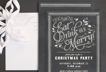Christmas Party Invitations / Our favorite festive Christmas party invitations! / by Elli