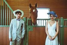 Events | Derby Day / fascinators + large, over-the top hats + ladylike fashion + Gentleman's fashion