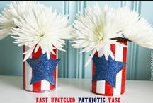 Patriotic /// 4th of JULY / Fourth of July crafts and recipes. Patriotic themed pins.