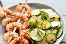 Seafood: Fish and Shrimp. / Seafood recipes, salmon and shrimp dishes.